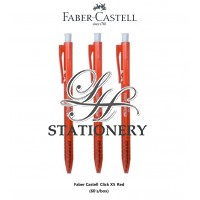 Faber Castell Ball Pen Click X5 0.5 - Red